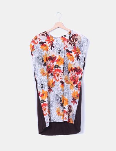 Vestido combinado floral NoName