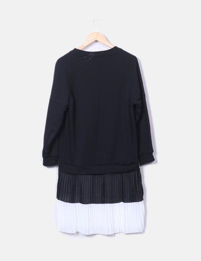 cómo hacer pedidos tienda oficial venta caliente real Vestido combinado falda plisada