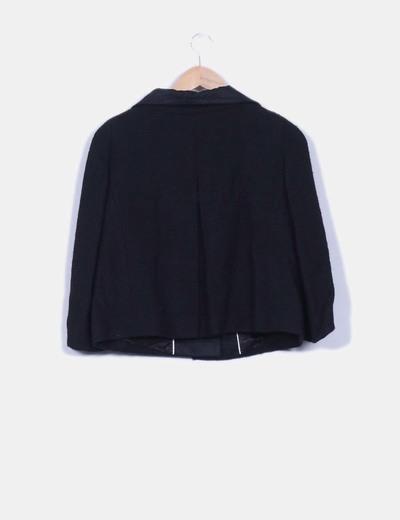 Blazer negra texturizada