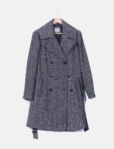 Manteau blanc et noir C&A