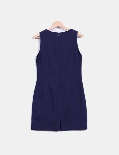 Vestido azul marino de pique