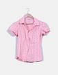 Camisa rosa estampada manga corta Stradivarius