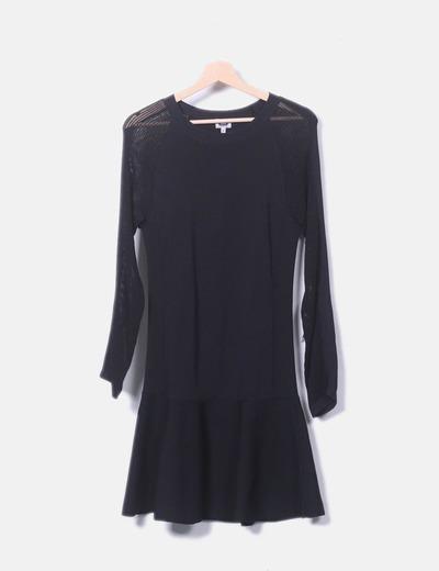 Vestido negro tricot