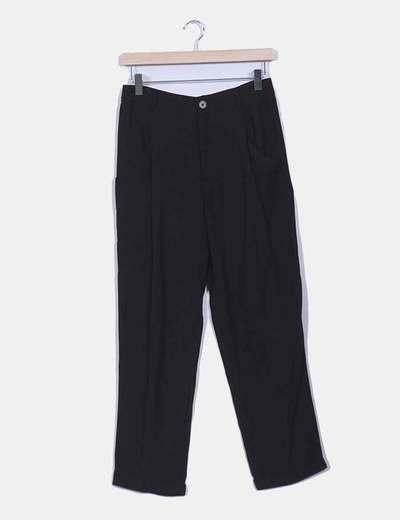Pantalon piqué fluido negro Zara
