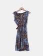 Vestido de tirantes estampado combinado Arych