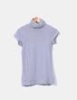 Top tricot gris cuello vuelto Zara