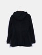 Trenca negra con capucha Zara