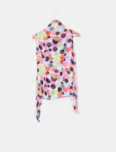 Blusa estampado topos multicolor