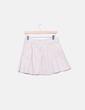 Mini falda cuero beige Zara