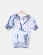 Blusa estampada con bordados multicolor NoName