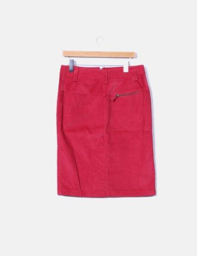 Falda roja de pana