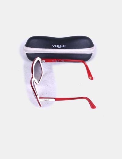 Gafas de sol montura blanca y roja