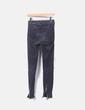Jeans denim negro con cremalleras Zara