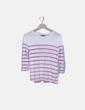 Jersey blanco con rayas horizontales rosas Massimo Dutti