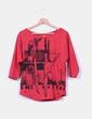 Camiseta roja oversize print Notthesame