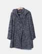 Chaquetón de punto combinado gris con capucha Hongo