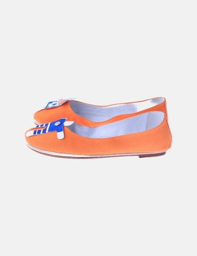 Bailarinas naranjas tela