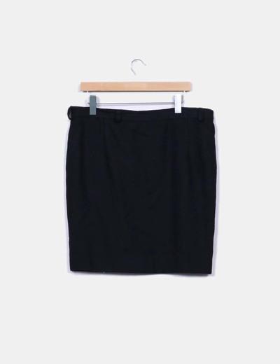 Falda negra texturizada NoName
