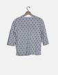 """Camiseta manga larga con topitos print """"Aurevoir"""" Stradivarius"""