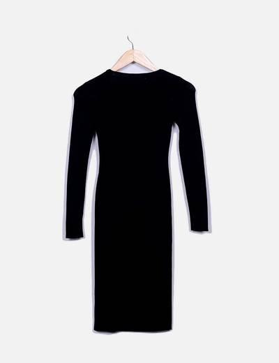 Vestido tricot negro