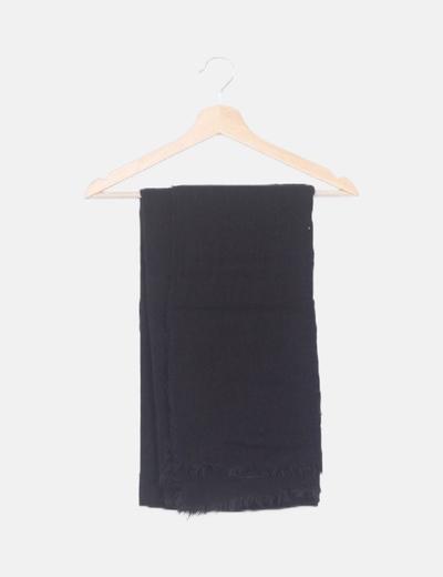 Bufanda negra tricot