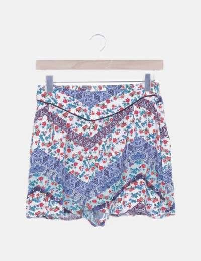 Pantalón short fluido floral