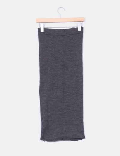 Falda mini lapiz gris marengo