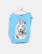 Camiseta azul turquesa print tigre con corona Denny Rose