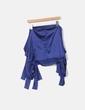 Blusa de cetim azul marinho NoName
