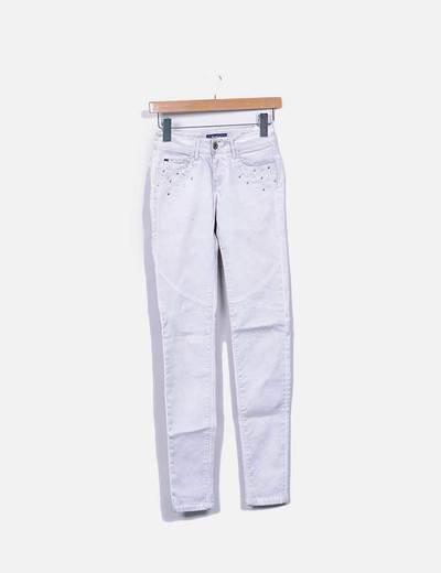Jeans denim gris push up con strass Salsa Jeans