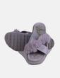 Sandalia gris combinada con pelo Sam Edelman