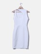 Vestido blanco con espalda descubierta Zara