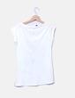 Camiseta blanca estampada Stradivarius