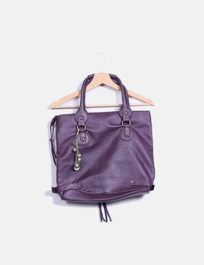 Sac violette similicuir de client Suiteblanco