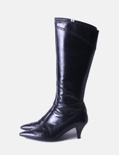 Bota alta negra Zara