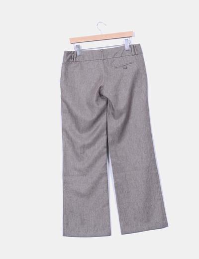 Pantalon marron jaspeado