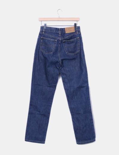 Jeans azul tiro alto