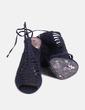 Sandalias negras con tacón Promod