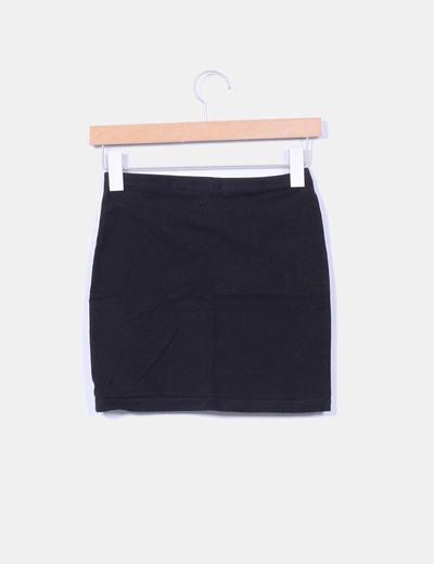 Mini falda negra elastica