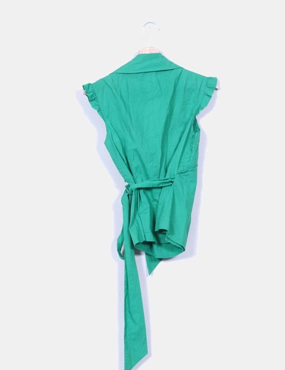 Camisa verde cruzada