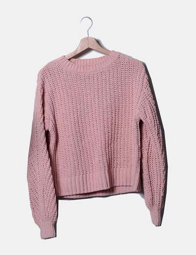 Jersey tricot rosa oversize
