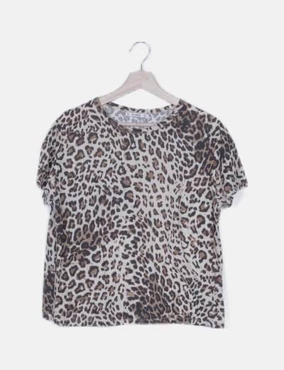 Camiseta animal print manga corta