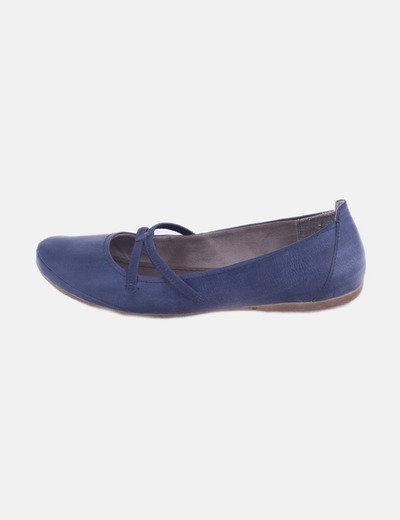 Bailarina azul marina con goma