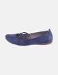 Bailarina azul marina con goma Tamaris