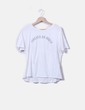 "Camiseta blanca ""Forever or never"" Mango"