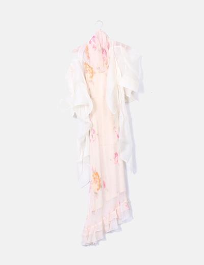 Conjunto de vestido, chaqueta y pañuelo