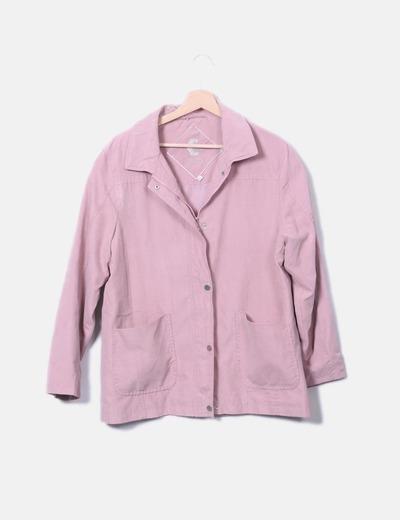 Chaqueta rosa con bolsillos