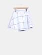 Falda midi blanca cuadros VILA