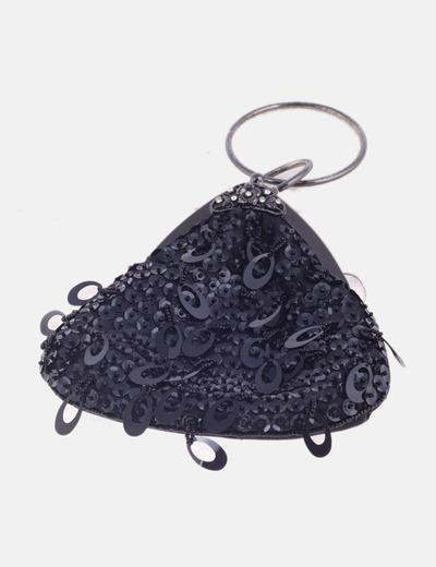 Bolso mini negro con abalorios