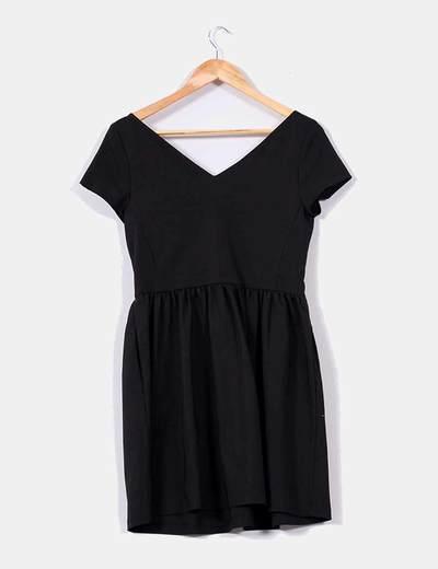Negro 74Micolet Cremallera Vestido Zara Delanteradescuento Parte MUzqVGpS